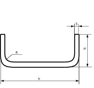 Обозначение размеров гнутого швеллера
